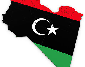 3D Political Map of Libya