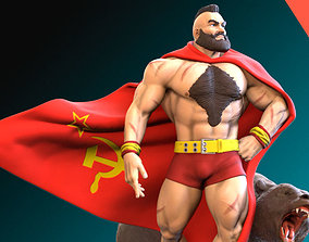 Zangief 3D printing ready fanart fighter