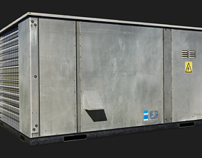 Rooftop packaged air-conditioning and heating 3D asset 1