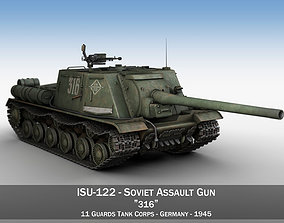 3D model ISU-122 - 316 - Soviet heavy self-propelled gun