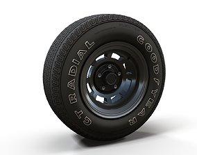 Muscle car highpoly wheel 3D model