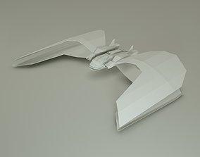3D asset Space Ship Butterfly