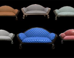 Vintage sofa 6 texture options 3D model