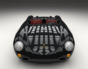 3D Porsche 550 Spyder black