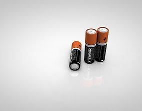 3D Duracell AA Battery