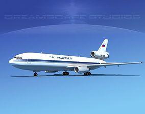 Douglas DC-10 Aeroflot 3D model