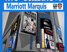 3D model animated NYC Building Marriott Marquis