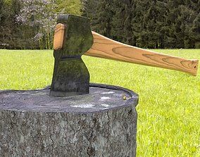 ORTAS AXE NO 3 REALISTIC FOREST AXE 3D PRINTABLE
