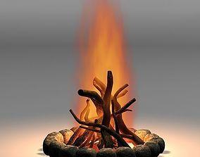 3D Camp fire 01