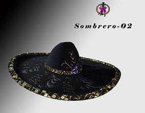Sombrero-02 3D asset