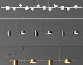 Linear Suspension Chandelier Collection 3D model