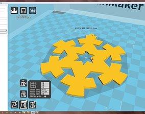 3D print model Snowflake bauble