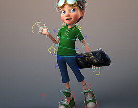Cartoon Boy Rigged man 3D model