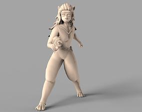 Cheetah Girl 3D print model