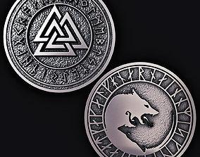 Runes Coin 3D print model