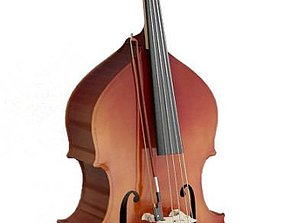 Wooden Bouble Bass 3D model