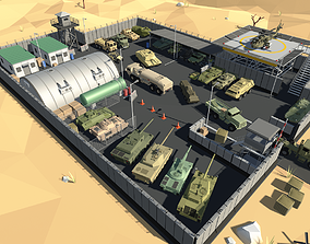 Stylized Military Vehicles Pack 3D asset