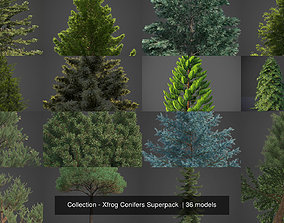 3D model Collection - Xfrog Conifers Superpack