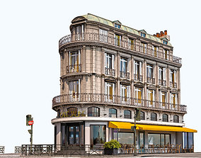3D model Cafe Jaune - European Architecture