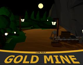 Gold mine 3D asset