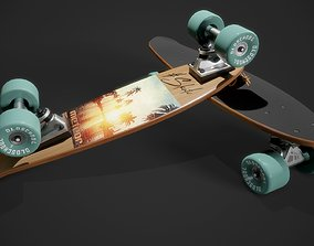 extreme-sport 3D model PBR Skateboard
