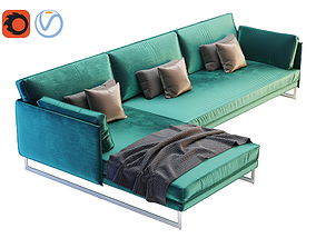 Saba Italia - Livingston Three Seater Corner 3D model