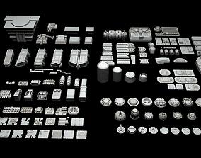 Ship Parts Pack 3D model