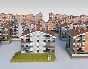 Suburban Condos Pack 3D model