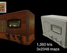 3D model animated World War 2 Props