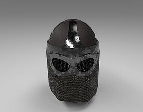 3D model Veiled Medieval Helmet