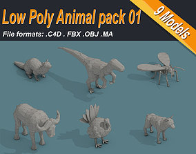 3D model Low Poly Animal Pack 01 Isometric Icon