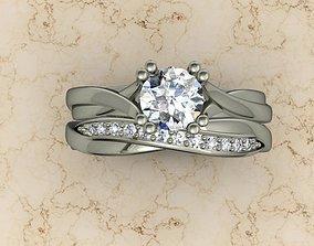 cad jewellery ring 3D print model