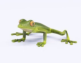 3D Green Frog