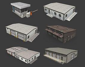 Industrial Buildings Pack 3D model VR / AR ready
