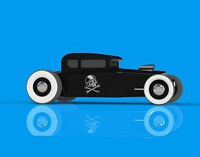 dragster Hotrod Toy 3D Model