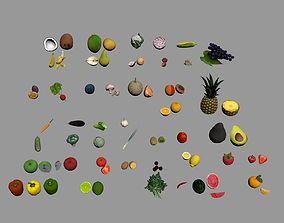 fruits and vegetables 3D model game-ready