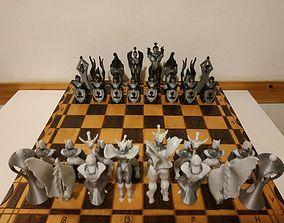 torre fantasy style chess 3D print model