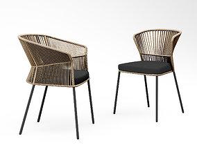 3D Potocco Ola chair 893 and Ola armchair 893