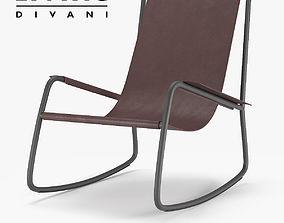 3D model Living Divani Flow Armchair