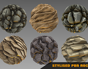 3D model Rock 2- Stylised PBR Texture - Material