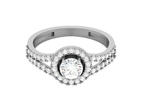 diamond Women solitaire bride ring 3dm render detail