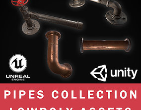 3D model Lowpoly Pipes Collection