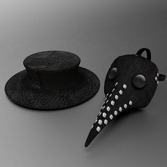 Plague Doctors mask and hat