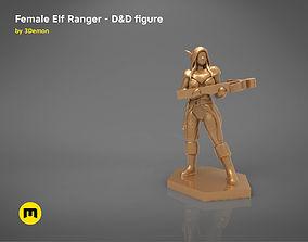 ELF RANGER FEMALE CHARACTER GAME 3D print model