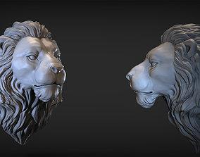 angry 3D print model Lion Head