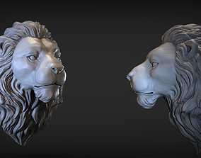 mask 3D print model Lion Head