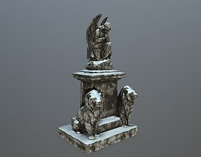 statue 4 sculpture 3D model game-ready