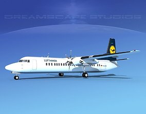 3D Fokker F-60 Lufthansa