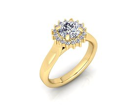 Solitaire Ring 24 3D print model