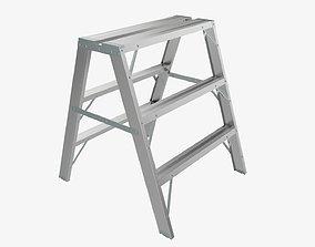 3D model Foldable sawhorse ladder